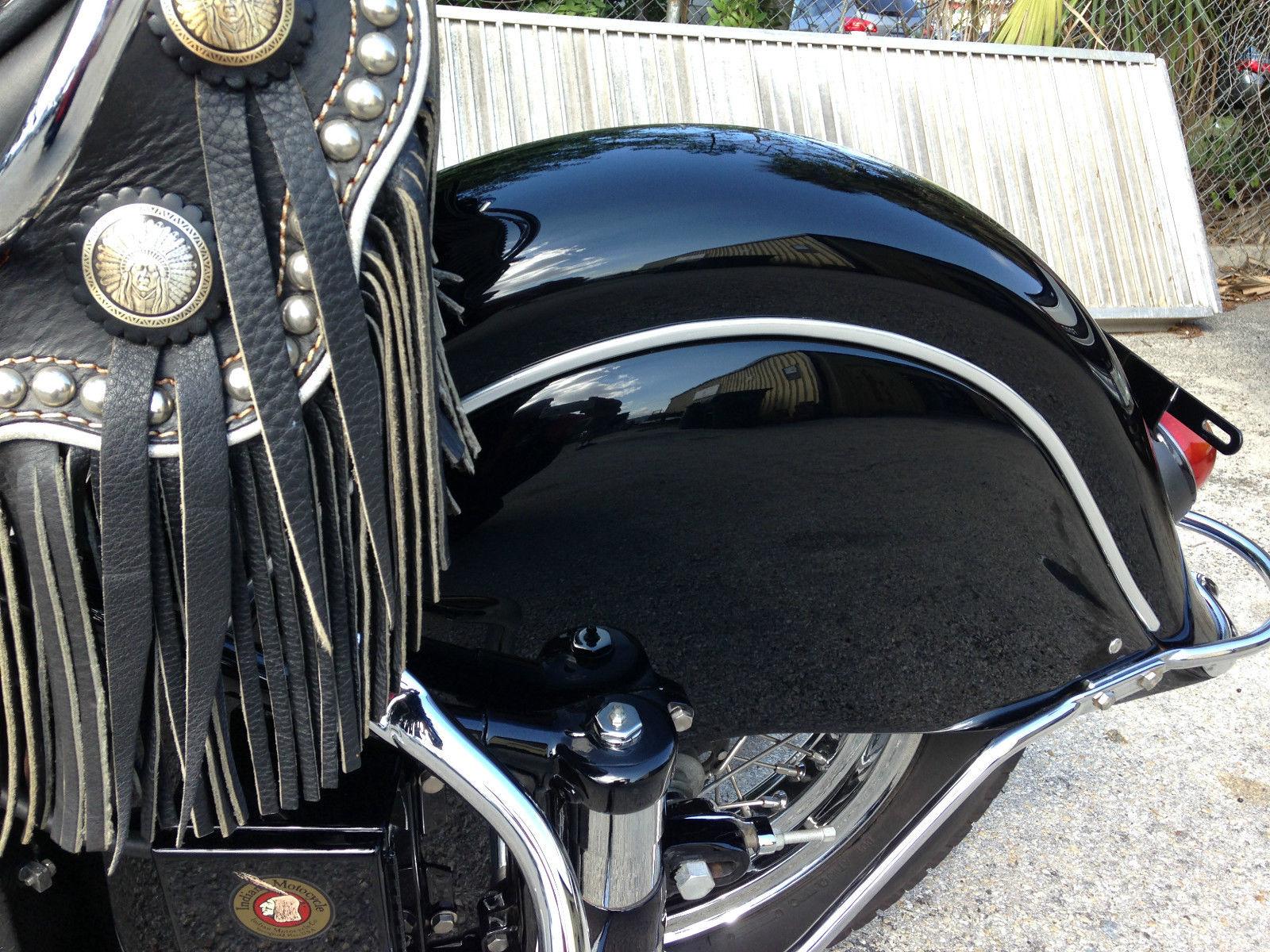 Indian Chief - 1947 - Rear Mudguard, Rear Shock and Rear Wheel.