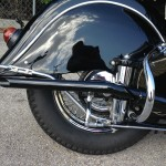 Indian Chief - 1947 - Muffler, Rear Suspension, Fender and Wheel.