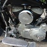 Indian Chief - 1947 - Foot Board, Transmission Case, Air Filter and Engine.