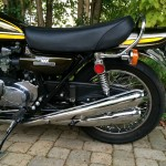 Kawasaki Z1 - 1974 - Mufflers, Side Panel, 900 Badge, Double Overhead Camshaft.