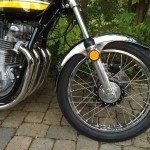 Kawasaki Z1 - 1974 - Front Wheel, Stainless Spokes, Reflector and Fender.
