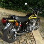 Kawasaki Z1 - 1974 - 4 into 4 Exhaust System, Red Reflectors, Rear Brake and Swing Arm.