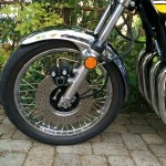 Kawasaki Z1 - 1974 - Front Single Disc Brake, Front Forks and Wheel.
