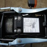 Kawasaki Z1-R - 1978 - Under Seat, Information Sticker, Inner Mudguard and Frame.