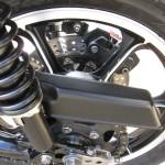 Kawasaki Z1-R - 1978 - Rear Shock Absorber, Chain Adjuster, Chain Guard, Rear Wheel and Disc Brake.