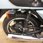 Kawasaki Z1-R - 1978 - Rear indicator, Swing Arm, Rear Brake, Muffler and Footrest.
