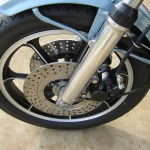 Kawasaki Z1-R - 1978 - Drilled Disc Rotor, Calliper, Fork Leg and Wheel.