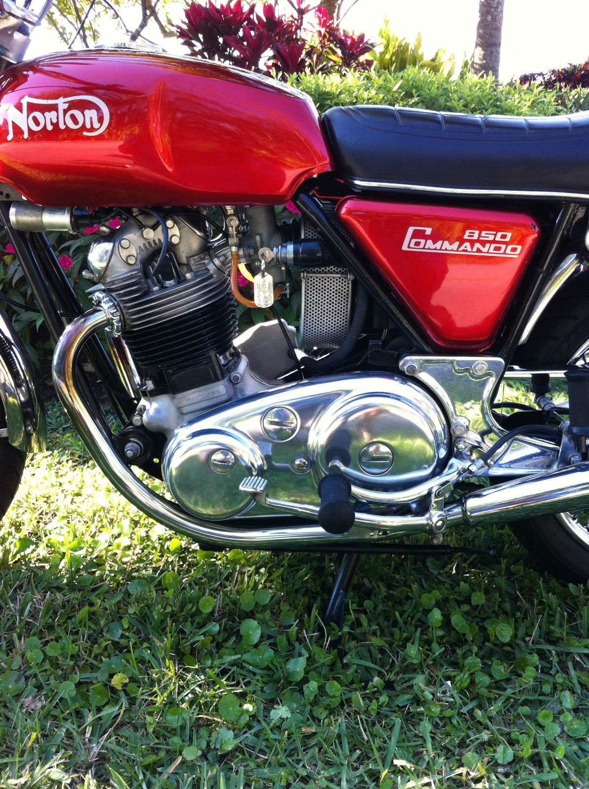 Norton Commando 850 - 1974 - Motor and Transmission, Chain Case, Engine and Gearbox.