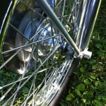 Norton Commando 850 - 1974 - Front Wheel and Spokes.