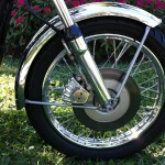 Norton Commando 850 - 1974 - Front Forks, Brake Disc, Calliper and Mudguard.