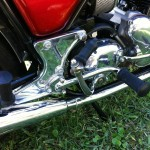 Norton Commando 850 - 1974 - Kick Starter, Footrest, Side Panel, Footrest Bracket and Mounting.