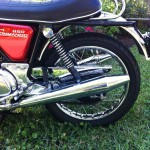 Norton Commando 850 - 1974 - Pea Shooter Exhausts, Chain Guard and Rear Fender.