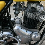 Norton Commando 850 - 1975 - Engine and Gearbox, Carburettor, Timing Chain Cover and Points Cover.