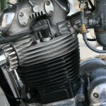 Norton Commando 850 - 1975 - Cylinder Head, Barrels, Starter Motor and Cover.