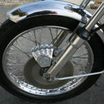 Norton Commando 850 - 1975 - Front Brake, Front Mudguard, Wheel and Disc Brake.
