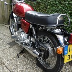 Norton Commando 750 - 1971 - Seat, Grab Rail, Muffler, Exhaust, Silencer, Rear Light, Rear Fender and Chain.