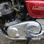 Norton Commando 750 - 1971 - Engine and Gearbox, Motor and Transmission. Primary Drive Cover, Footrest and Side Panel.
