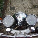Norton Commando 750 - 1971 - Headlight, Clocks, Speedo, and Tacho.