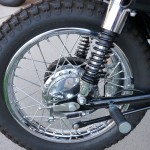Suzuki TS250 - 1972 - Swing Arm, Footrest, Shock Absorber and Chain Adjuster.