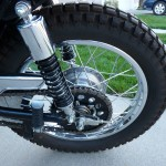 Suzuki TS250 - 1972 - Rear Wheel, Chain and Sprocket and Chain Guard.