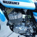 Suzuki TS250 - 1972 - Engine and Gearbox, Fuel Tap, Cylinder Head.