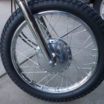 Suzuki TS250 - 1972 Front Wheel, Hub and Spokes.