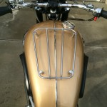 Triumph Bonneville - 1964 - Fuel Tank, Tank Rack and Knee Pads.