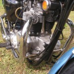 Triumph Trophy TR6 - 1968 - Reflector, Cylinder Head, Barrels, Exhausts and Headers.