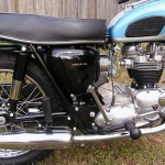 Triumph Trophy TR6 - 1968 - Oil Tan, Seat, Kick Start, Footrest and Swing Arm.