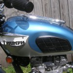 Triumph Trophy TR6 - 1968 - Petrol Tank, Knee Pads, Grips and Badge.