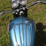 Triumph Trophy TR6 - 1968 - Fuel Tank, Tank Rack, Handlebars and Clocks.
