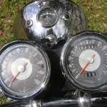 Triumph Trophy TR6 - 1968 - Clocks, Gauges, Speedo, Tacho and Ammeter.