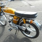 Yamaha FS1E - 1974 - Seat, Tank, Pedals, Wheels and Tyres.