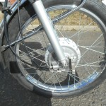 Yamaha FS1E - 1974 - Front Mudguard, Front Wheel, Brake and Cable.