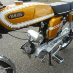 Yamaha FS1E - 1974 - Engine and Gearbox, Fizzy, Air Filter, Yamaha Badge and Fuel Tank.