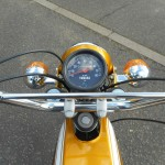 Yamaha FS1E - 1974 - Speedo, Handlebars, Cables and Indicators.