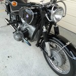 BMW R60/2 - 1965 - Front Forks, Front Fender, Front Wheel and Spokes.