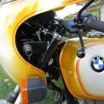 BMW R90S - 1975 - Flasher, Steering Lock, Clutch Lever, Grip and Mirror.