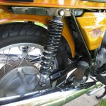BMW R90S - 1975 - Swing Arm, Shock Absorber, Final Drive, Rear Footrest and Silencer.