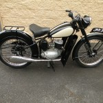 BSA Bantam - 1953 - Seat, Fuel Tank, Leg Guards and Frame.