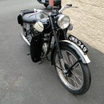 BSA Bantam - 1953 - Front Number Plate, Front Fender, Forks, Wheel, Headlight and Seat.