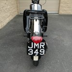 BSA Bantam - 1953 - Rear Number Plate, Fender, Rear Light and Rack.