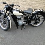 BSA Bantam - 1953 - Leg Shields, Fuel Tank, Frame and Forks.