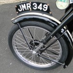 BSA Bantam - 1953 - Front Mudguard, Front Wheel, Spokes, Speedo Drive and Brake.
