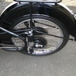 BSA Bantam - 1953 - Rear Wheel, Chain Adjuster, Chain and Sprocket.