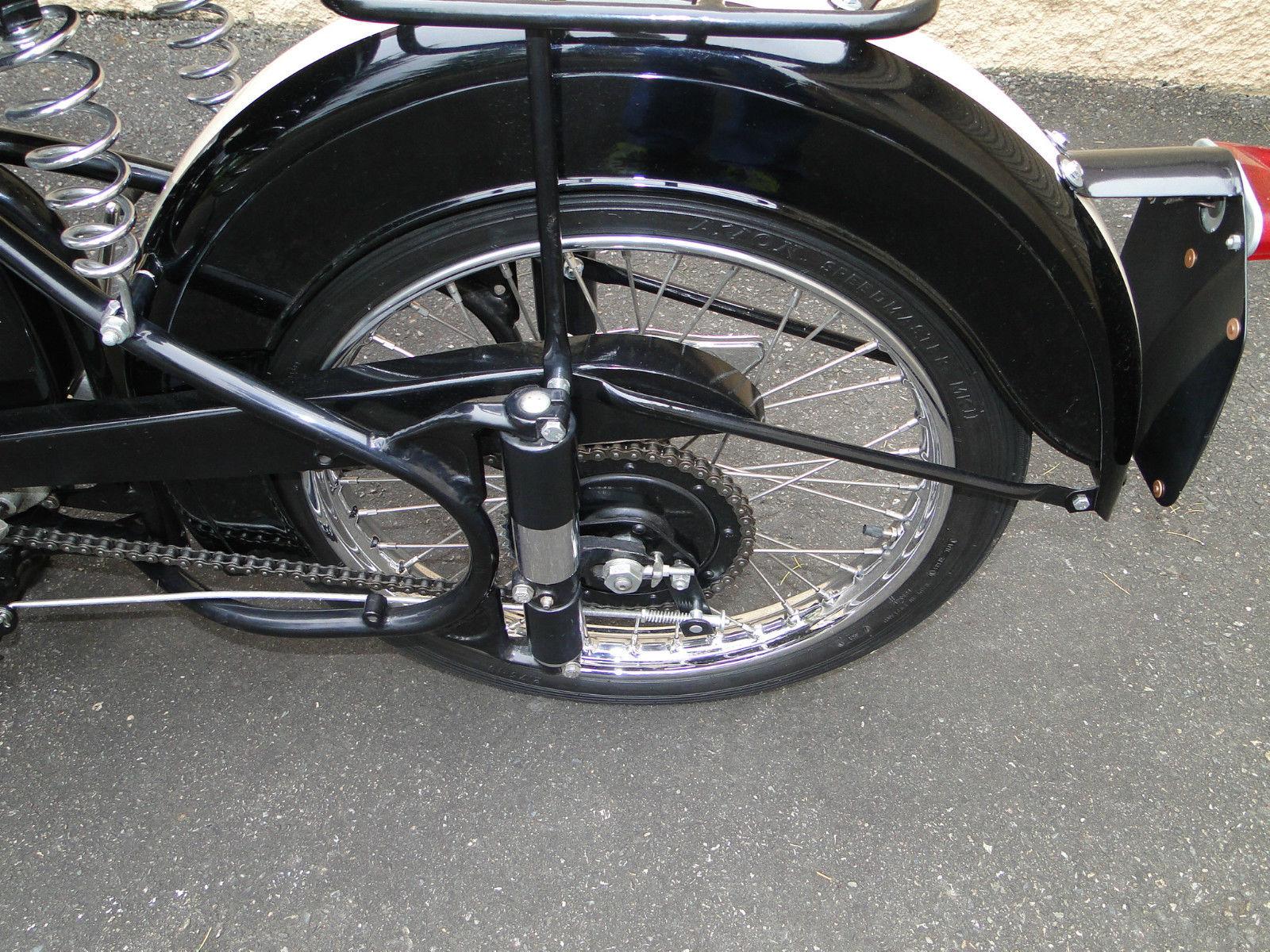 BSA Bantam - 1953 - Rear Wheel, Chain Adjuster, Chain and Sprocket.