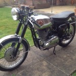 BSA Gold Star - 1961 - Front Wheel, Front Mudguard, Forks, Headlight, Chrome Tank and Seat Cover.