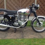 BSA Gold Star - 1961 - Goldie, Frame and Forks, Exhaust Muffler, Seat and Gas Tank.