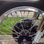 BSA Gold Star - 1961 - Rear Wheel, Rear Shock Absorber, Stainless Spokes.