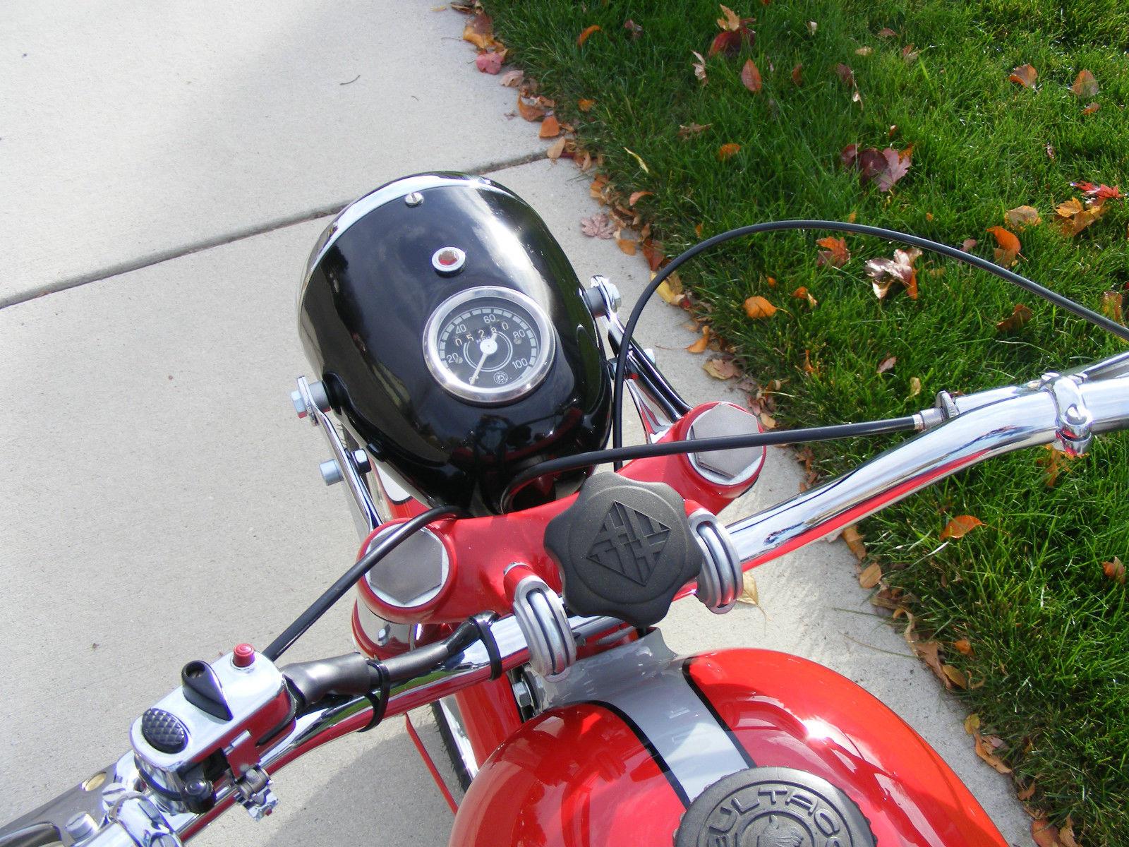 Bultaco Mercurio - 1966 - Steering Damper, Headlight and Speedo.